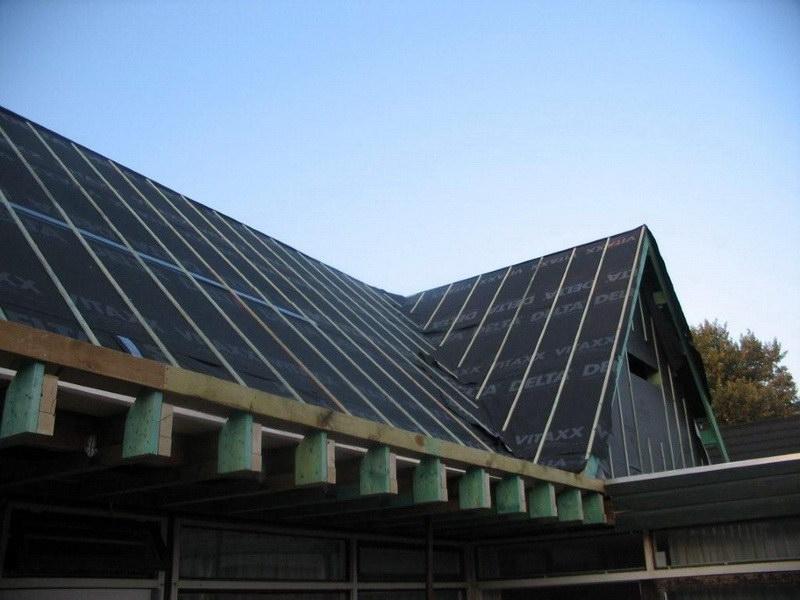 plat naar hellen dak